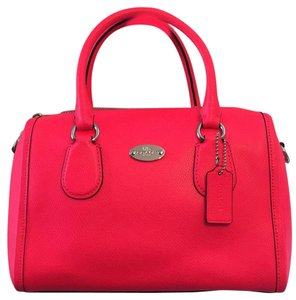 Coach Satchel in Neon Pink