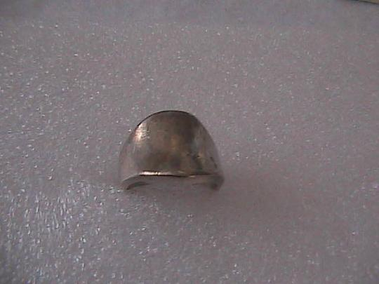 Vintage Sterling Silver Concave Top Unisex Ring