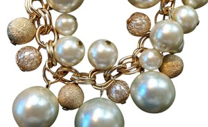 Dillard's GOLD/WHITE DILLARD'S NECKLACE PEARLS