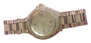 Michael Kors Camille Crystal Encrusted Gold Ion-plated Ladies Watc
