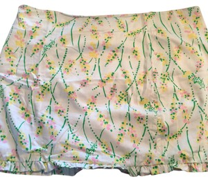 Lilly Pulitzer Mini Skirt White with design