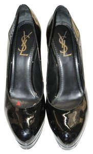 Saint Laurent Patent Leather Ysl Patent Black Formal