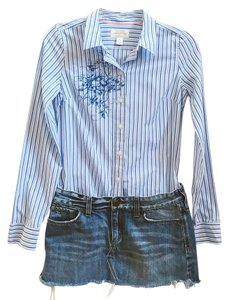 Abercrombie & Fitch Button Down Shirt Blue, White