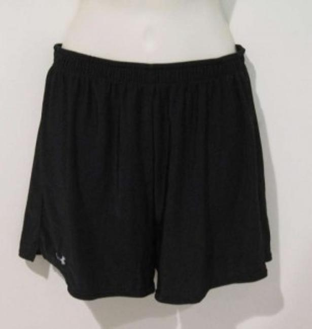 Under Armour Polyester Elastic Black Shorts