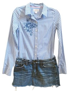 Abercrombie & Fitch Mini Skirt Denim Blue