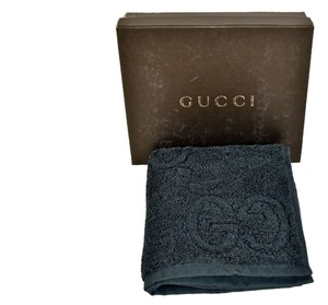 Gucci Authentic Gucci Bue GG Cotton Face Towel