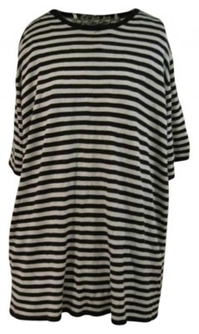 Preload https://item5.tradesy.com/images/august-silk-white-and-black-stripped-tee-shirt-size-22-plus-2x-179944-0-0.jpg?width=400&height=650
