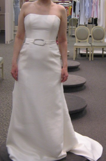 7b59c5e5ff02 ... Oleg Cassini Ivory Strapless Traditional Wedding Dress Size 4 (S)