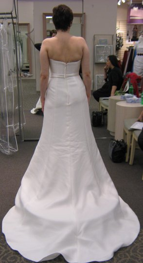359448156c2f Oleg Cassini Ivory Strapless Traditional Wedding Dress Size 4 (S ...