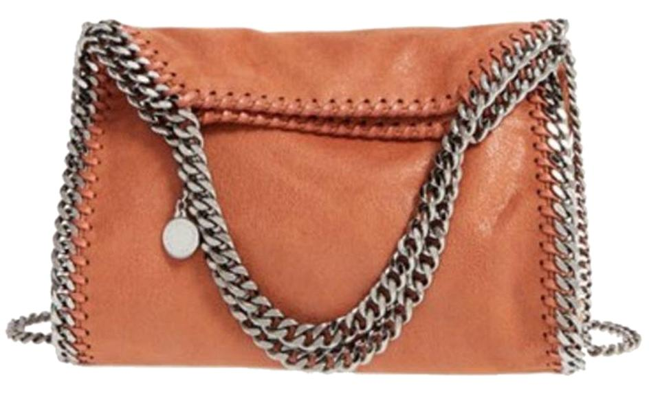 Stella McCartney New Mini Falabella Shaggy Deer Tote - Brandy Brown Faux  Leather Cross Body Bag 818a962637cce