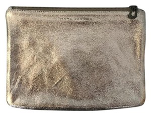 Marc Jacobs Metallic Leather Gunmetal Clutch