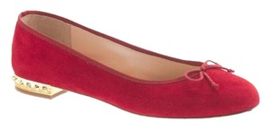 J.Crew Ballet Suede Authentic Red Flats