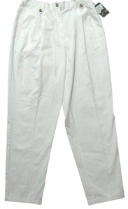 Cabin Creek New With Tags Size 12 L White Off Creme Beige Straight Pants (off) White