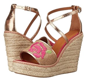 M Missoni M Embroidered Size 37 7 Natural Wedges