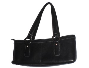 Nordstrom Leather Handbag Satchel in Black