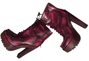 Betsey Johnson Boot Leather PINK/BROWN Boots