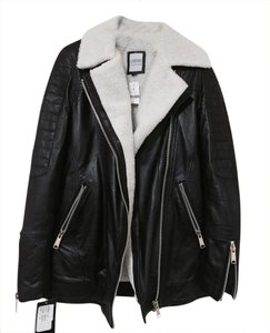 LF Leather Shearling Edgy Leather Jacket