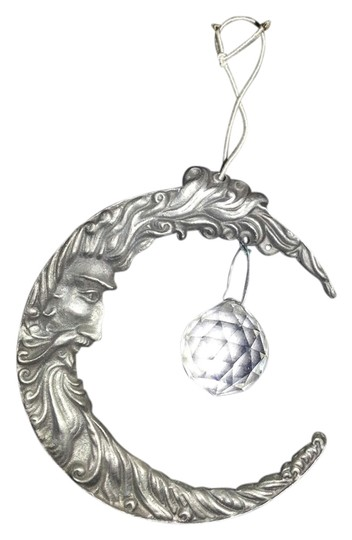 Other Pewter Crescent Moon & Crystal Suncatcher