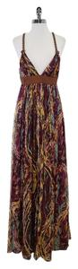 Maxi Dress by Catherine Malandrino Multi Color Silk Maxi
