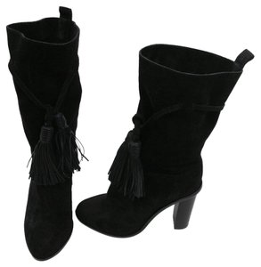 Lanvin Suede Tassels Boot Black Boots