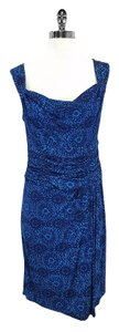 Nanette Lepore short dress Blue Cowl Neck Sleeveless on Tradesy