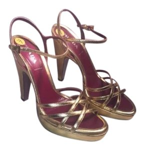 Prada metallic gold Formal