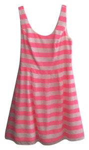 Lilly Pulitzer short dress Hot pink/white stripes on Tradesy