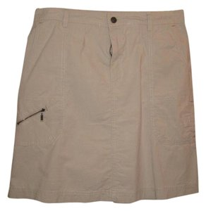 Eddie Bauer Mini Skirt Khaki