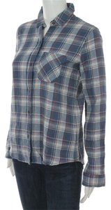 Current/Elliott Buttondown Button Down Shirt Paradise Plaid