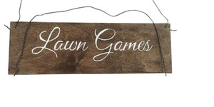 Lawn Games Wedding Reception Sign