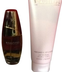 Estee Lauder Beautiful Perfume and Lotion Set Perfume is 1oz Lotion is 3.4 Oz