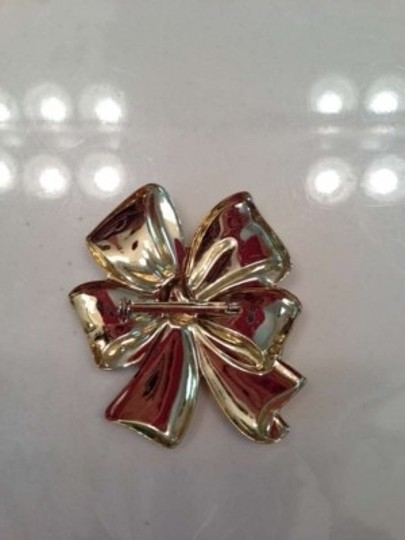 Vintage Vintage Gold Tone Bow Pin Brooch