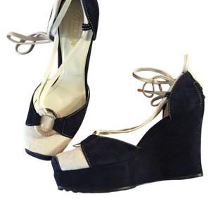 Tod's Navy blue / beig Wedges