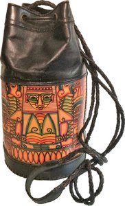 Indonesian Tribal Ethnic Boho Tooled Braided Cross Body Bag