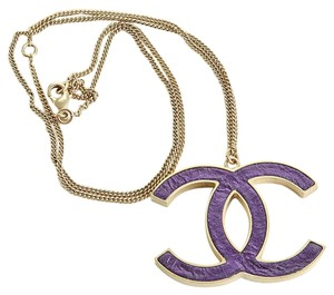 Chanel RDC5936 Chanel Leather CC Logo Chain Necklace