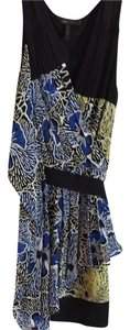 BCBGMAXAZRIA short dress Black/ Blue on Tradesy