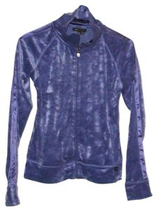 BCBGMAXAZRIA Full Zip Velour Jacket