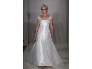 Alfred Angelo Ivory Metallic 825 Traditional Wedding Dress Size 12 (L)