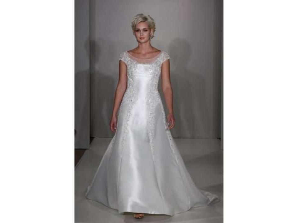 0cfec7404c6 Alfred Angelo Ivory Metallic 825 Traditional Wedding Dress Size 12 ...