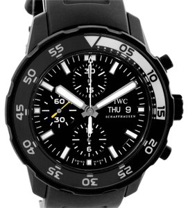IWC IWC Aquatimer Chronograph Black Rubber Strap Mens Watch IWC3767 Unworn