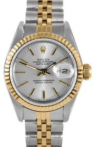 Rolex ROLEX Women's Datejust Two-tone Silver Stick Watch 6917