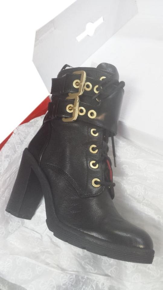 Guess Finlay Black Leather and Gold Finlay Guess Boots/Booties 1d8555
