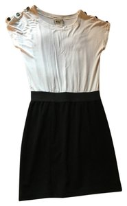 Pink Rose short dress Black And White Button White on Tradesy