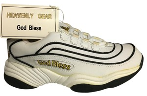 Nike shoes all real leather designed with Christian Blessings all brand new in box. Many sizes men and women Athletic