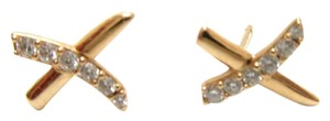 Tiffany & Co. Signed and Numbered Gold and Diamond Stud Earrings