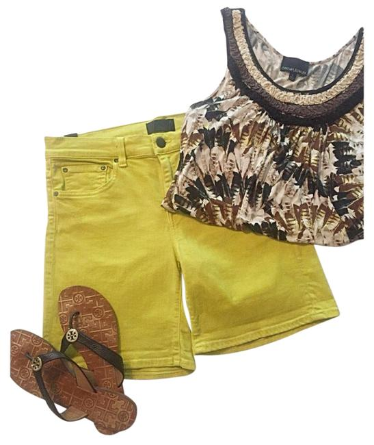 Item - Chartreuse Denim Shorts Size 8 (M, 29, 30)