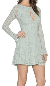 Free People Dramatic Sleeves Flattering Flare Cutout Lace Dress