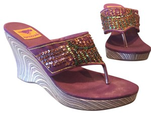 Rocket Dog Purple Wedges