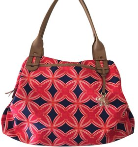 Stella & Dot Tote in Navy Red