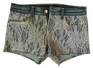 JOE'S Mini Cut Off Summer Mini/Short Shorts Jean and Lace